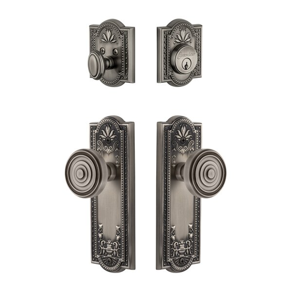 Parthenon Single Cylinder Knob Combo Pack by Grandeur