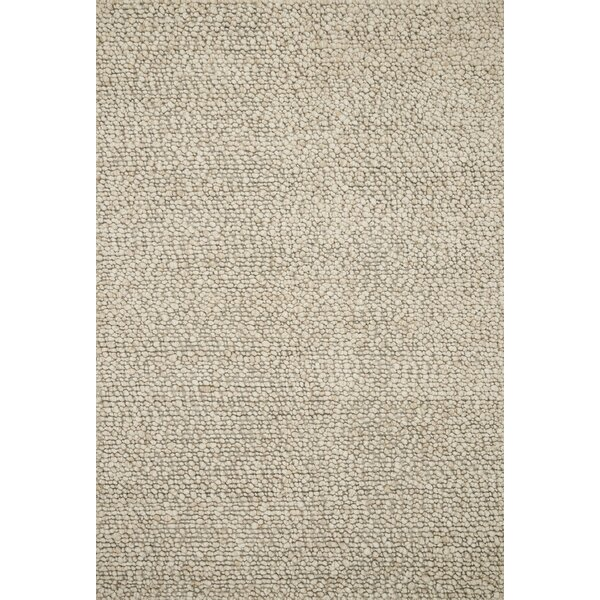 Francine Hand Woven Wool Oatmeal Area Rug by Gracie Oaks