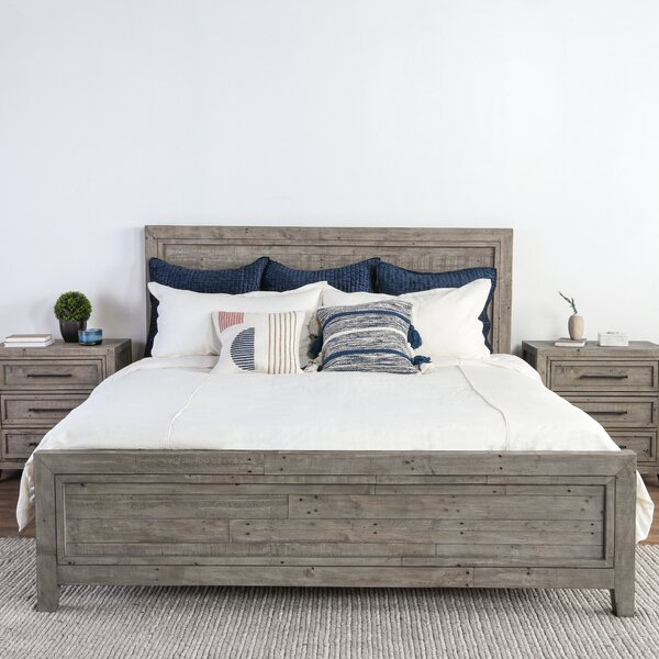 Kimberley Reclaimed Pine Platform Bed by Millwood Pines Millwood Pines