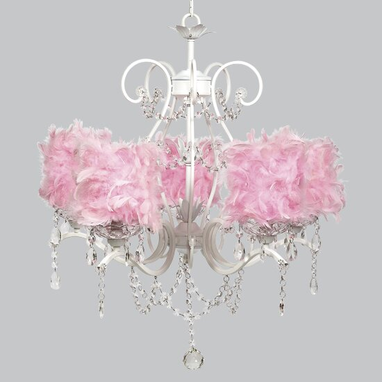 Grace 5-Light Shaded Empire Chandelier By Jubilee Collection