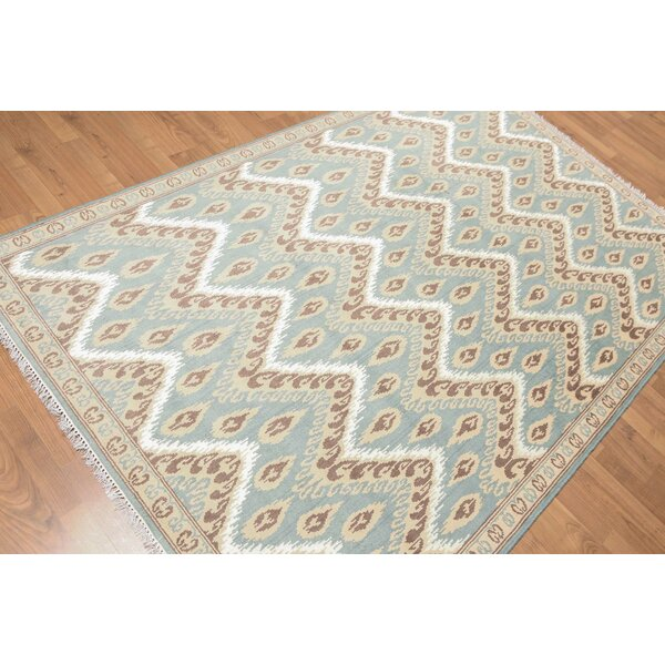 One-of-a-Kind Yattendon Hand-Knotted Blue/Gray Area Rug by Canora Grey