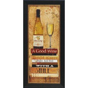 'Good Wine Wine' by Carol Robinson Framed Graphic Art by Artistic Reflections