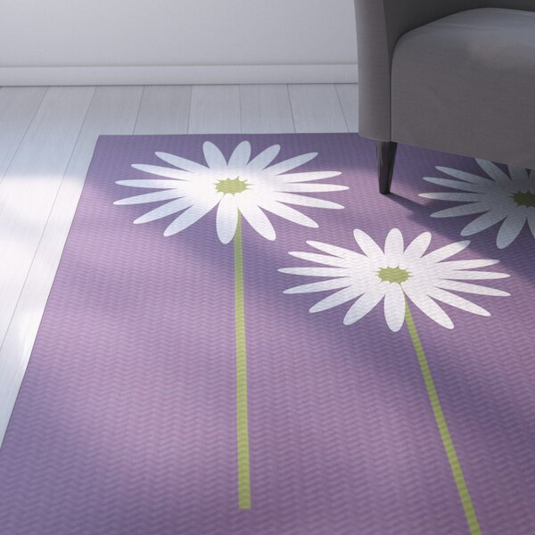 Omar Floral Print Hyacinth Indoor/Outdoor Area Rug by August Grove