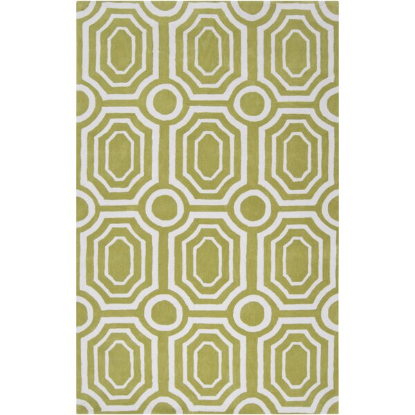 Hudson Park Hand-Tufted Green/White Area Rug by angelo:HOME