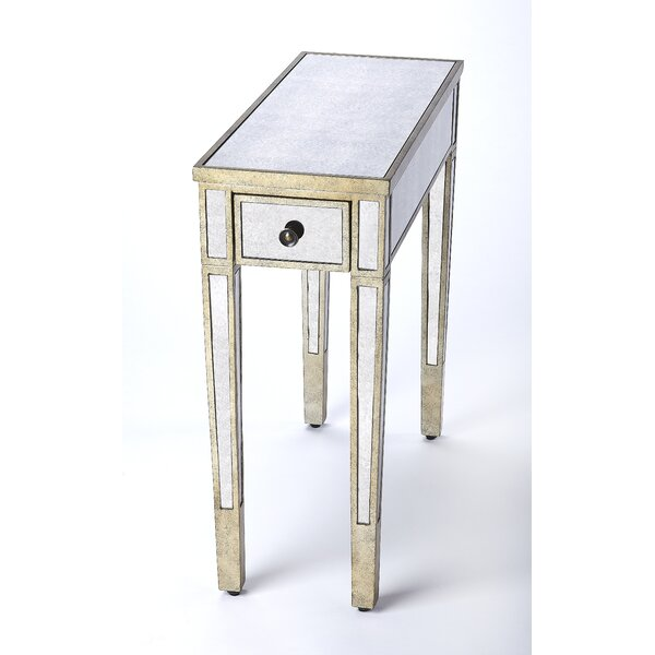 Conley Mirrored End Table By One Allium Way
