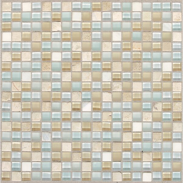 Treasure 12 x 12 Glass Mosaic Tile in Blue Ice by Mohawk Flooring