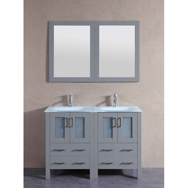 Andora 47 Double Bathroom Vanity Set with Mirror by Bosconi