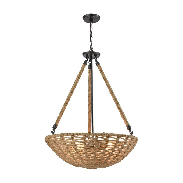 Griffin 4-Light Bowl Pendant by Bay Isle Home