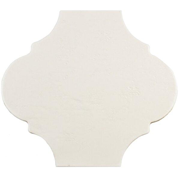 Marr 10.38 x 11.38 Porcelain Field Tile in Eggshell White by EliteTile