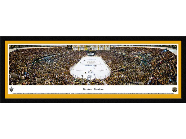 NHL Boston Bruins - Playoffs by James Blakeway Framed Photographic Print by Blakeway Worldwide Panoramas, Inc