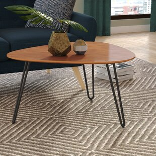 Hentges Hairpin Leg Wood Coffee Table Wrought Studio