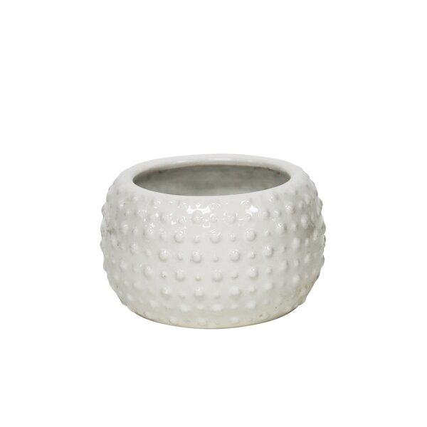 Lavinia White Decorative Ceramic Pot Planter by Mistana