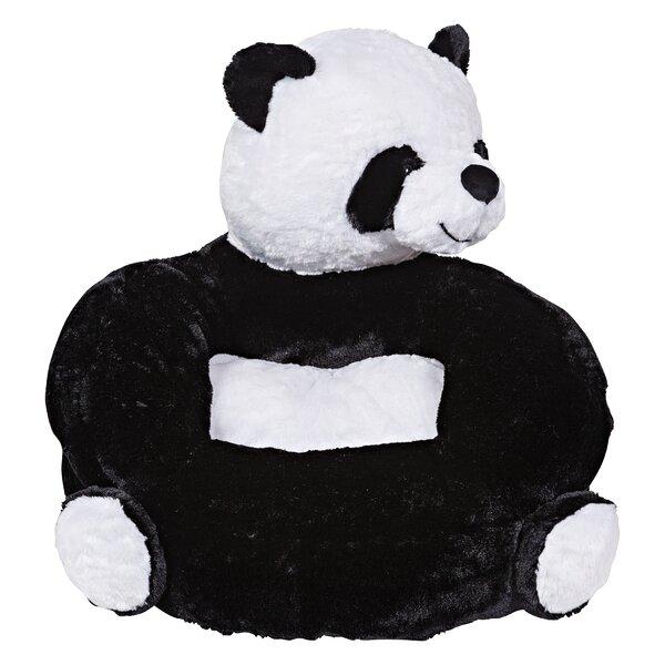 Plush Panda Character Kids Faux Fur Chair by Trend Lab