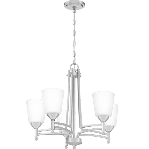Chillon 5 - Light Shaded Classic / Traditional Chandelier by Ebern Designs Ebern Designs