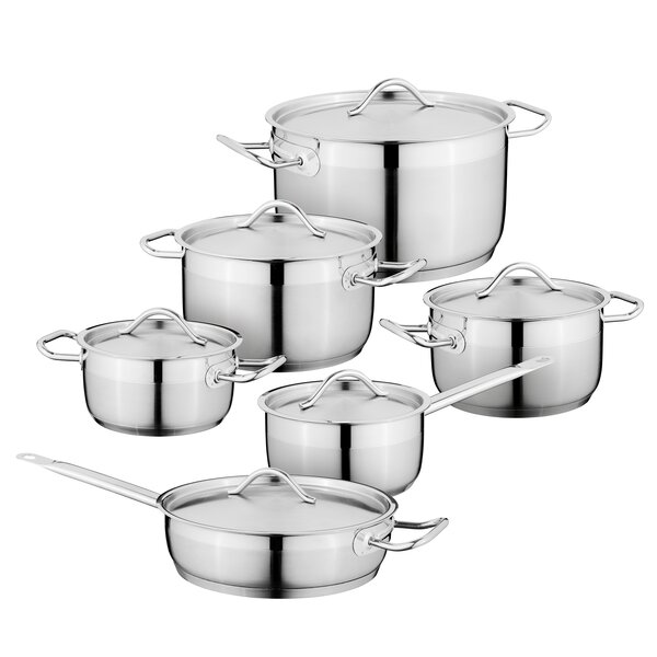Hotel 12-Piece Stainless Steel Cookware Set by BergHOFF International
