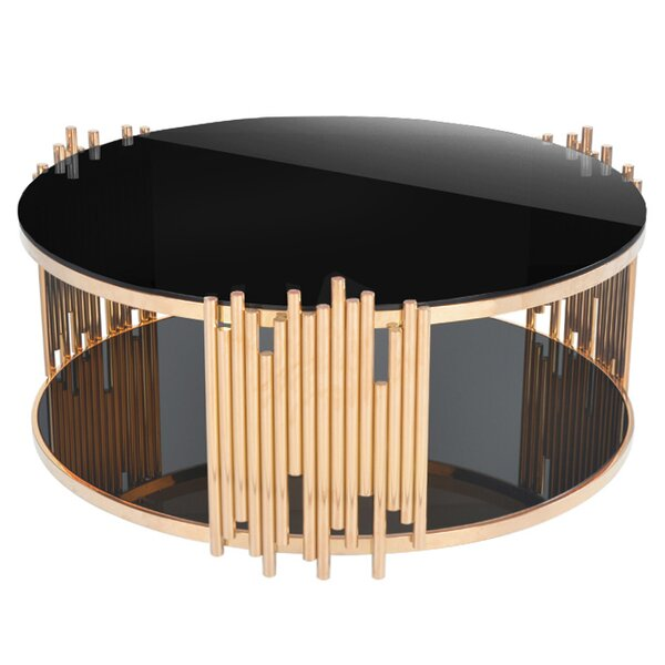 Mauris Coffee Table with Magazine Rack by RMG Fine Imports