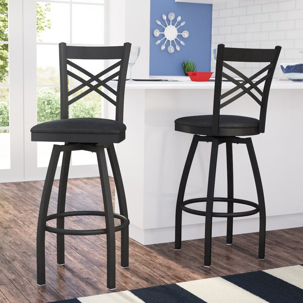 Pyron 32 Swivel Bar Stool (Set of 2) by Latitude R