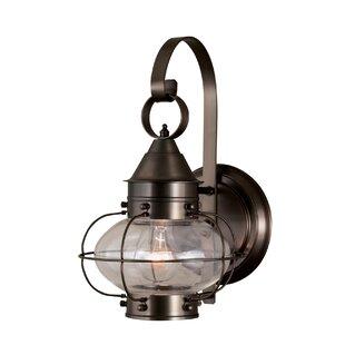 Shop for Audun Bronze 1-Light Outdoor Wall Lantern By Longshore Tides
