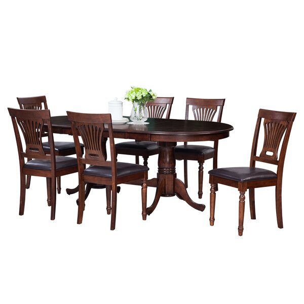Doretha 7 Piece Solid Wood Dining Set by Darby Home Co