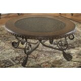 Vega Metal Etched Coffee Table by Fleur De Lis Living