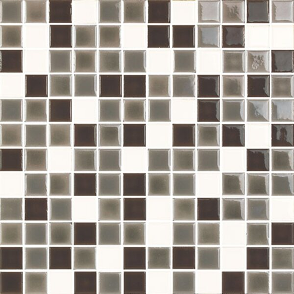 New Blendz 1 x 1 Glass Mosaic Tile in Vanilla Bean by Epoch Architectural Surfaces