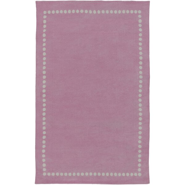 Dotted Line Pink Area Rug by Birch Lane Kids™