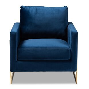 Jackie Glam and Luxe Velvet Fabric Upholstered Armchair