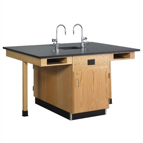 Double Faced 4 Student Island Workstation by Diversified Woodcrafts
