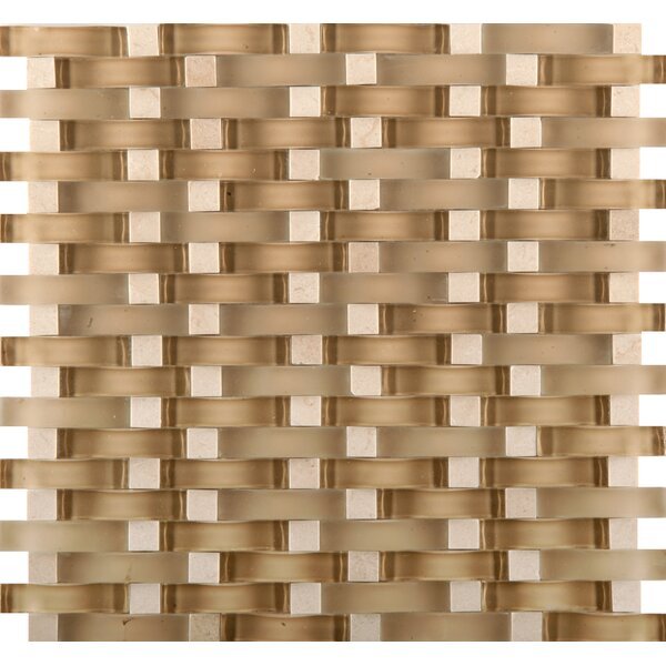 Lucente 12 x 13 Glass Stone Blend Wave Mosaic Tile in Murano by Emser Tile