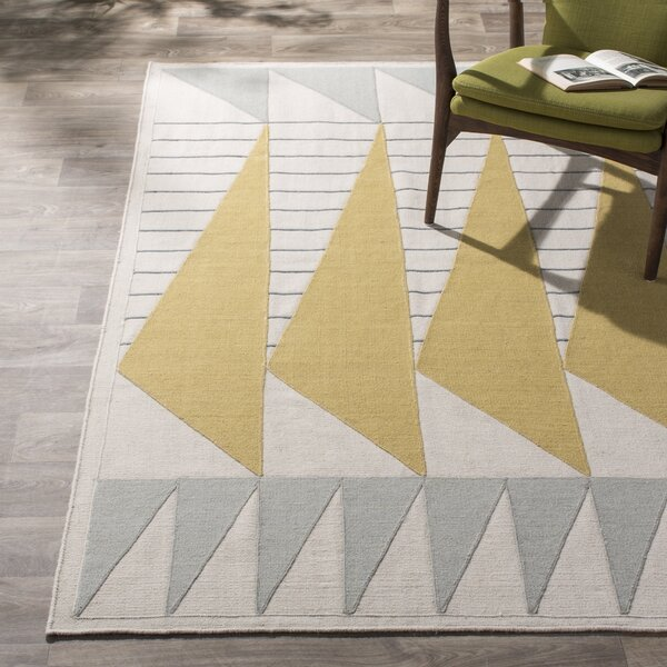 Haveman Gold & Gray Area Rug by Brayden Studio