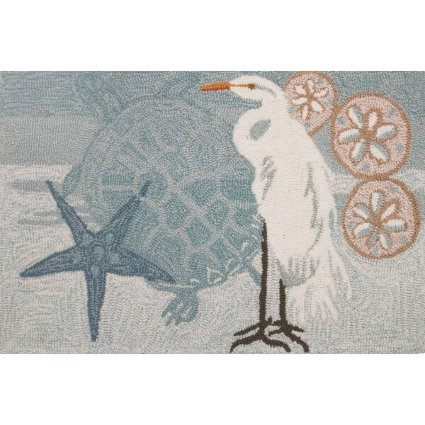Cockerham Coastal Egret Area Rug by Highland Dunes