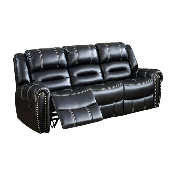 Review Gandara Breathable Leatherette Reclining Sofa