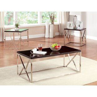 Great Price Elvin Retro 3 Piece Coffee Table Set ByHokku Designs