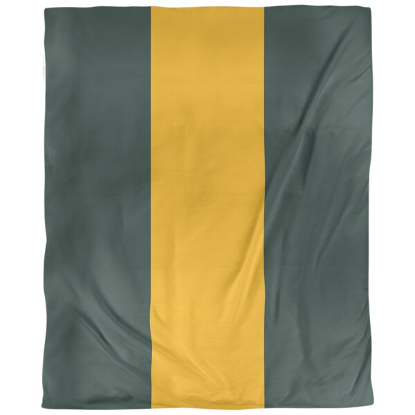 Green Bay Arizona Football Stripes Single Duvet Cover