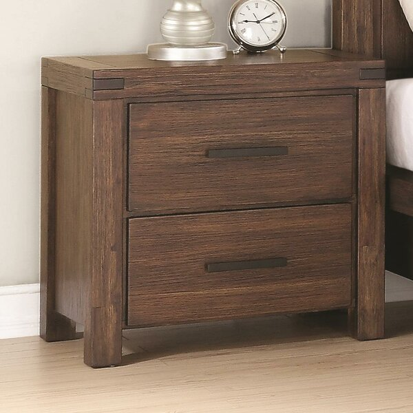 Circe 2 Drawer Nightstand by Union Rustic Union Rustic