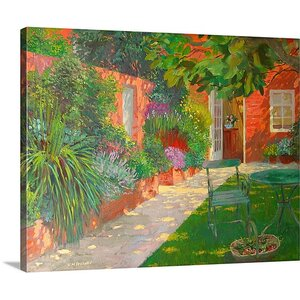 'Courtyard' by William Ireland Painting Print on Wrapped Canvas by Great Big Canvas