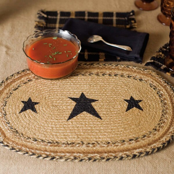 Millicent Stencil Star Jute Placemat (Set of 6) by August Grove