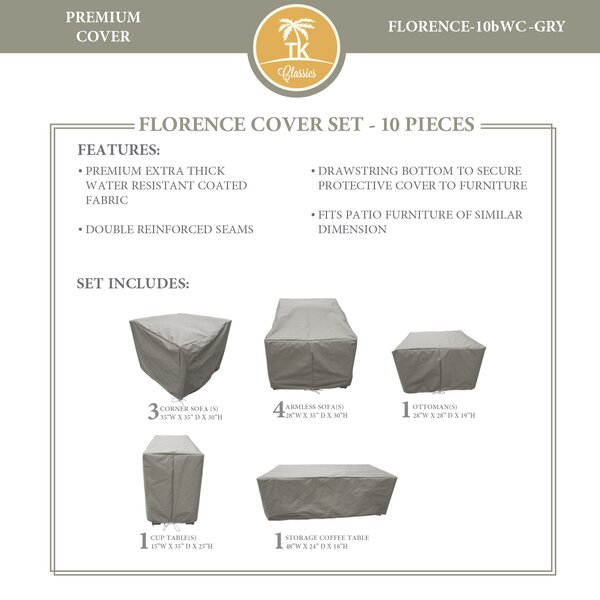 Forence 10 Piece Water Resistant Patio Furniture Cover Set by TK Classics