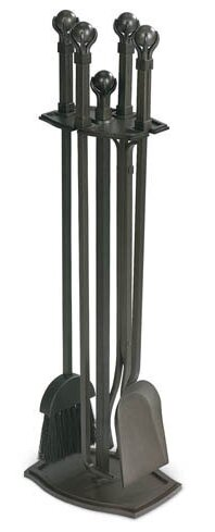 Ball and Claw 5 Piece Iron Fireplace Tool Set by Pilgrim Hearth
