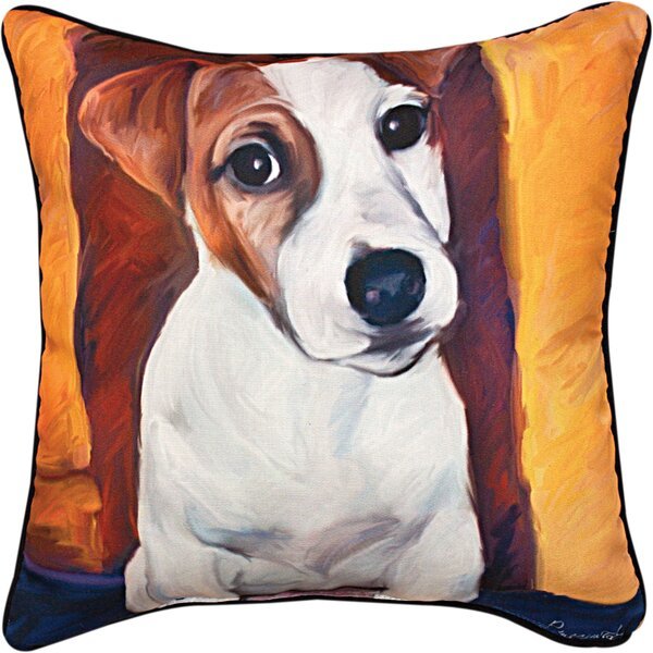 Baby Jack Russell Throw Pillow by Manual Woodworkers & Weavers