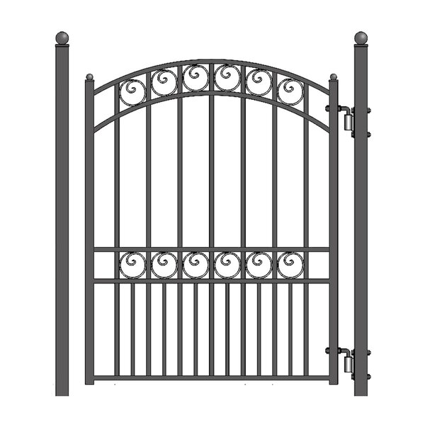 5 ft. H x 4.5 ft. W Paris Steel Pedestrian Gate by ALEKO