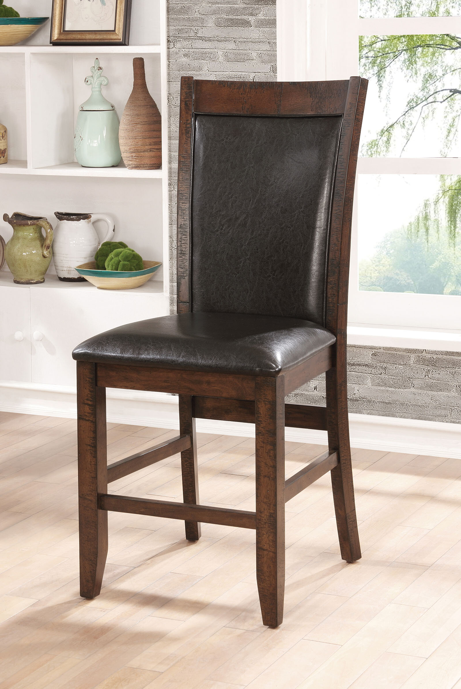 Loon Peak Herbert Counter Height Upholstered Dining Chair & Reviews