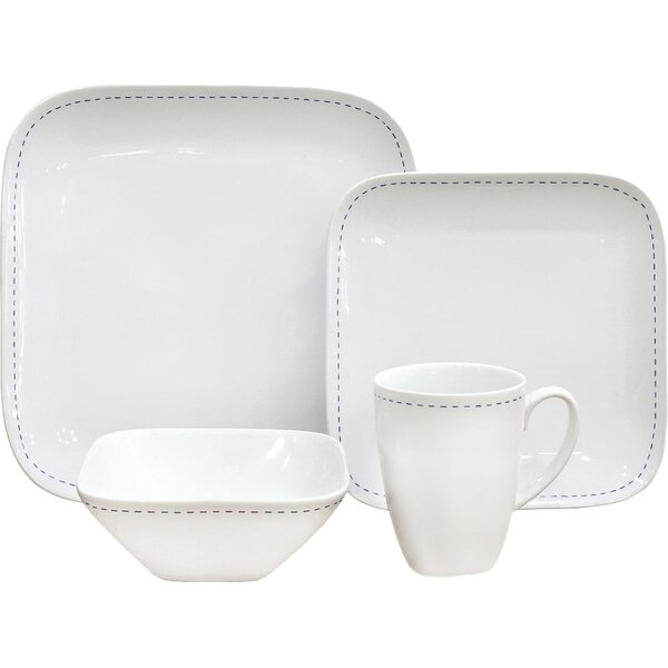 Dash 16 Piece Dinnerware Set, Service for 4 by Over and Back