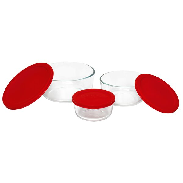 Storage Plus Dish 3 Container Food Storage Set by Pyrex