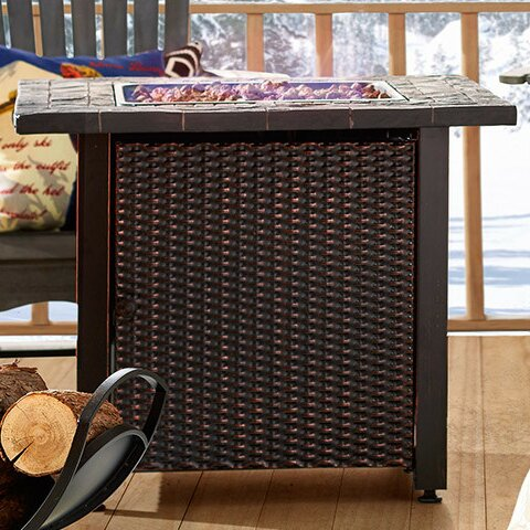 Stainless Steel Propane Fire Pit Table by Endless Summer