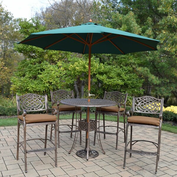 Braddock 7 Piece Bar Height Dining Set by Fleur De Lis Living