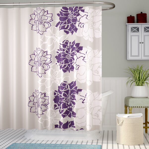 Broadwell Cotton Shower Curtain by Red Barrel Stud