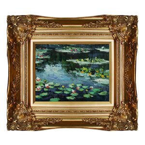 'Water Lilies' by Claude Monet Framed Painting Print by Tori Home