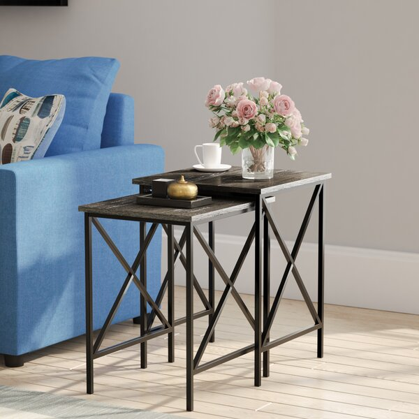 Creeksville Solid Wood 2 Piece Nesting Tables End Table By Andover Mills