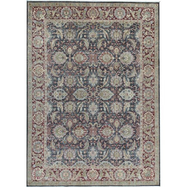 Canterbury Oriental Hand-Knotted Black/Red Area Rug